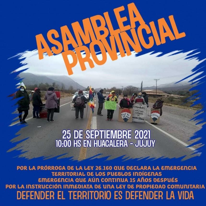 Jujuy: Asamblea provincial de pueblos y comunidades indígenas